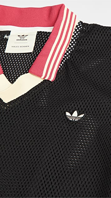 adidas x Wales Bonner Mesh Polo Shirt