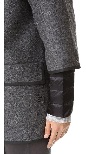Add Down Double Face Wool Jacket