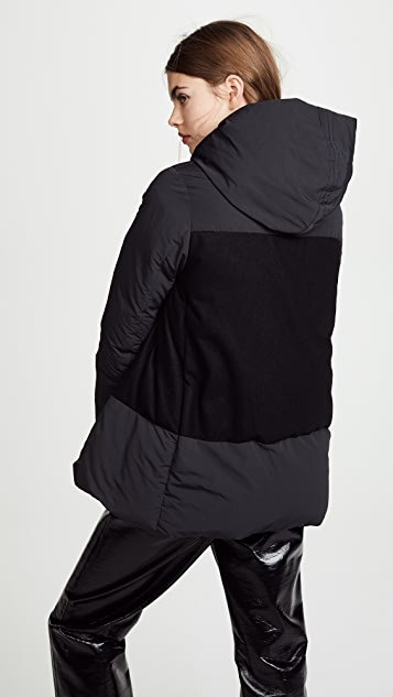 Add Down Hooded Over Down Jacket