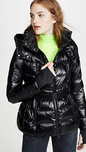 Add Down Hooded Down Jacket