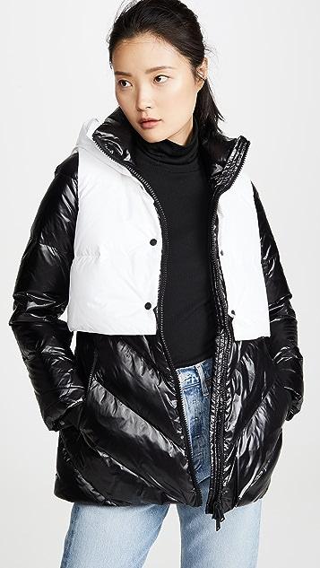 Add Down Пуховая куртка со съемным жилетом с капюшоном