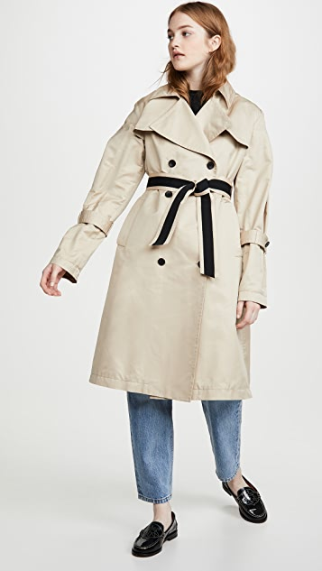 Add Down Oversized Trench Coat