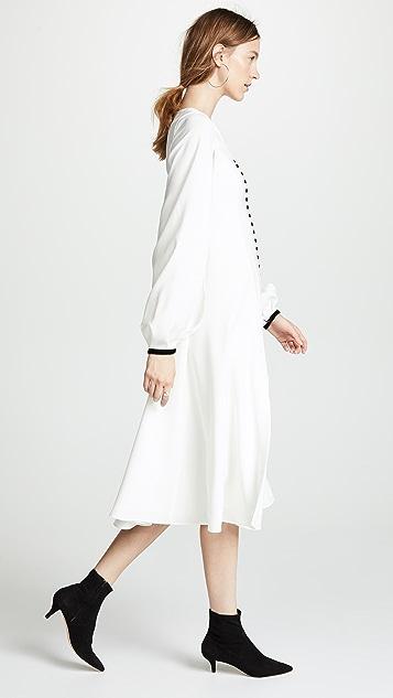 Adeam Buttoned V Neck Dress