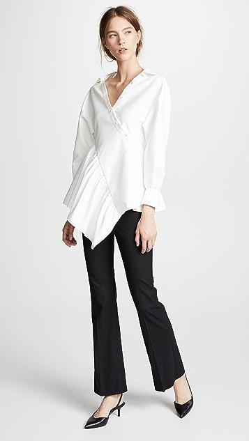 Adeam Twisted Wrap Shirt