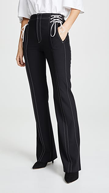 Lace Up Boot Leg Trousers by Adeam