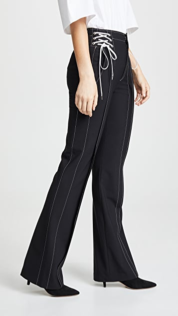 Adeam Lace Up Boot Leg Trousers