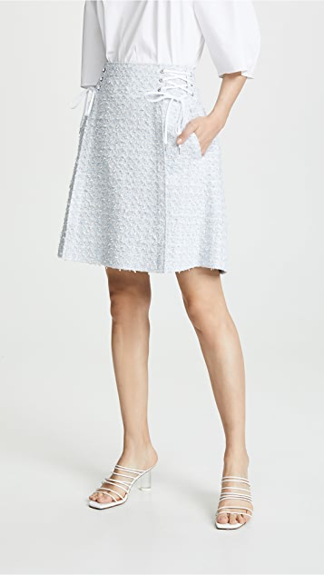 Adeam 系带半身裙