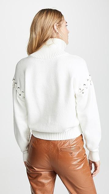 Adeam Lace Up Knit Sweater