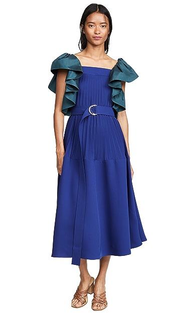 Adeam Плиссированное платье Parachute