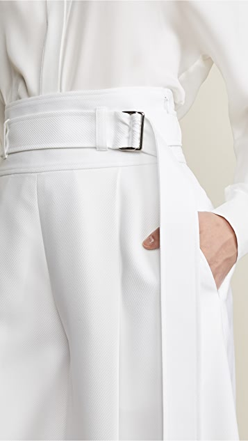 Adeam Belted Wide Leg Pants
