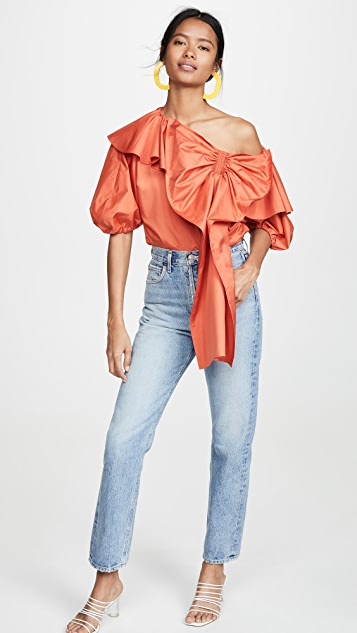 Adeam Parachute Bow Blouse