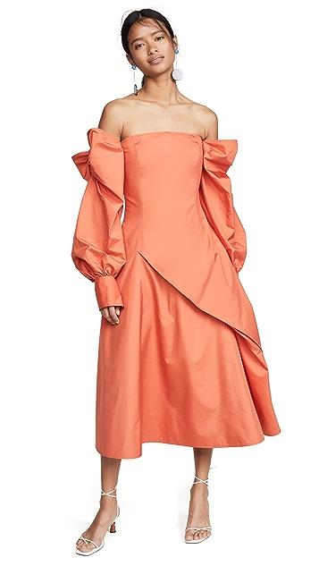 Adeam Parachute Bow Dress