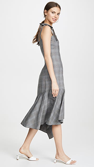 Adeam Платье с асимметричным подолом и бюстье