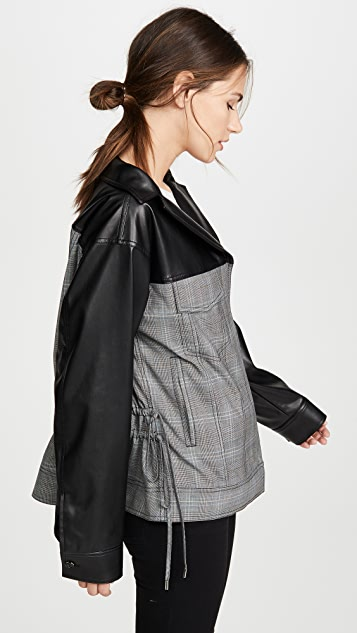 Adeam Oversized Ruched Jacket