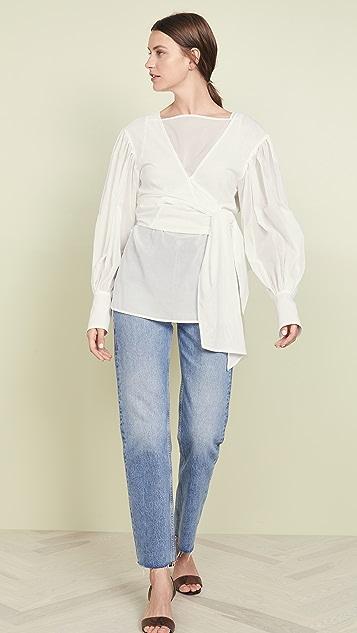 Adeam Layered Tied Sash Shirt