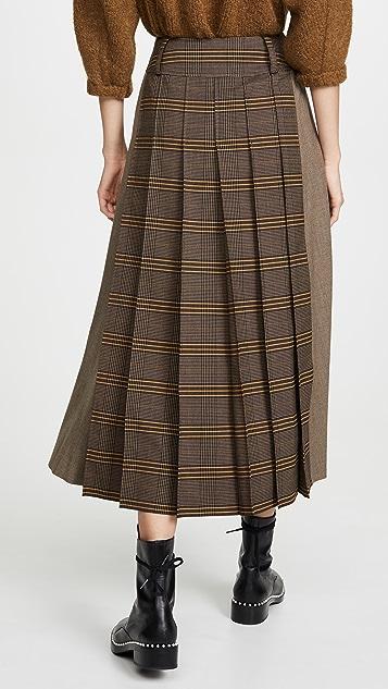 Adeam Workwear Pleated Skirt