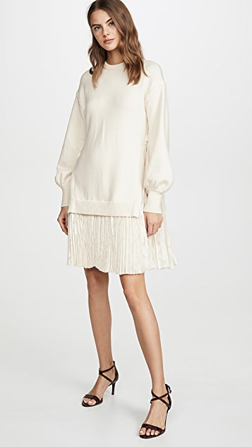 Adeam Pleated Sweater Dress