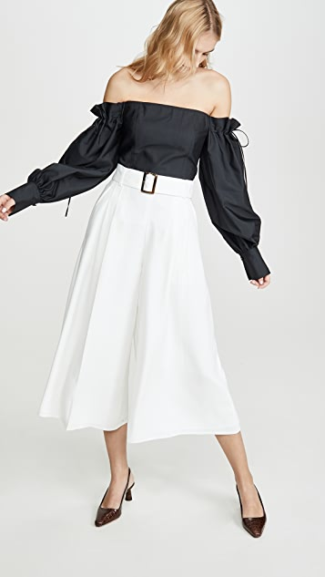 Adeam 系腰带裙裤