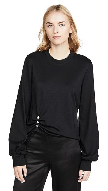 Adeam Imitation Pearl Sweatshirt