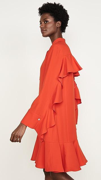 Adeam Ruffle Shirt Dress
