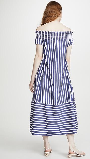 Adeam Off Shoulder Smocking Dress
