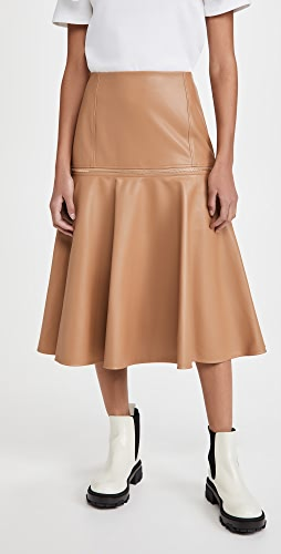 Adeam - Faux Leather Zip Skirt