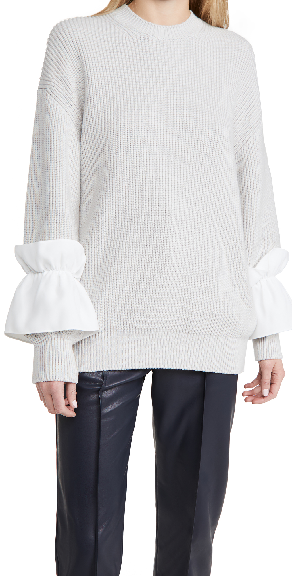 Adeam Ruffle Cuff Sweater