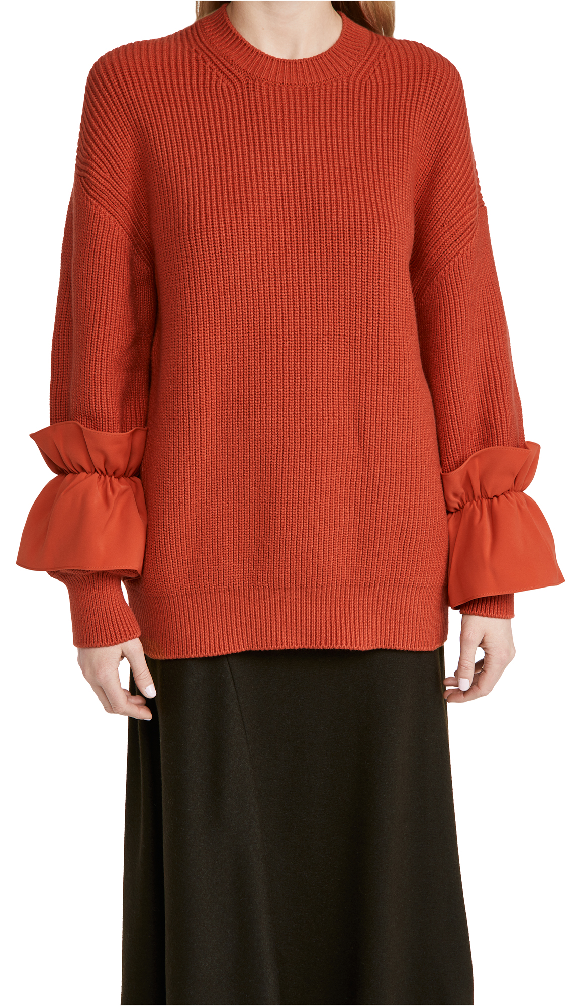 Adeam Ruffle Cuff Sweater