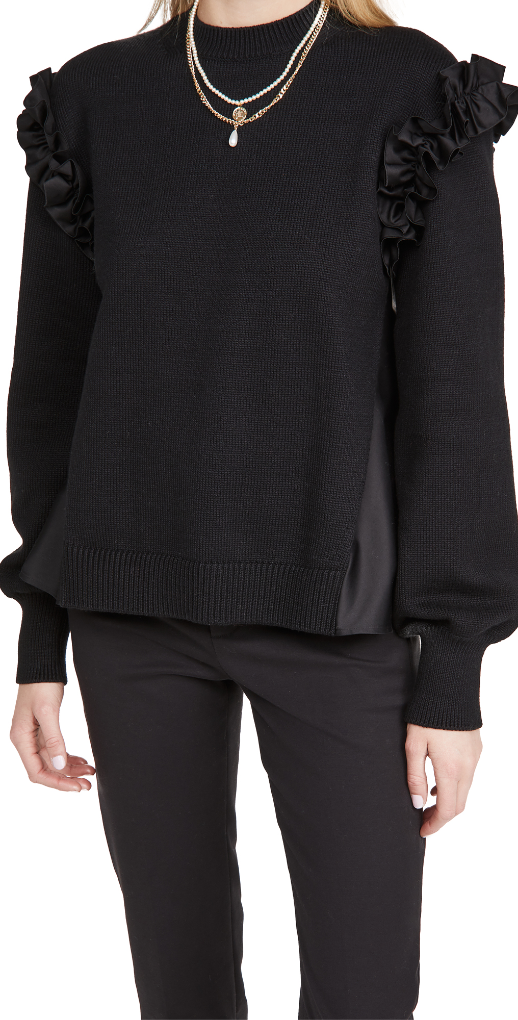 Adeam Ruffle Sweater