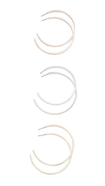 Adia Kibur Large Round Hoop Earring Set