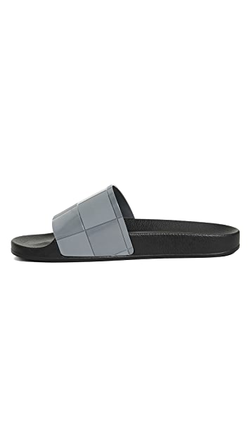 Adidas by Raf Simons Adilette Checkerboard Slides
