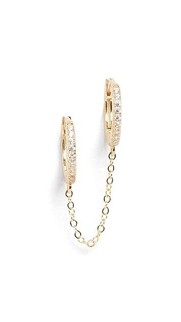 Adina's Jewels 双链贴耳耳环