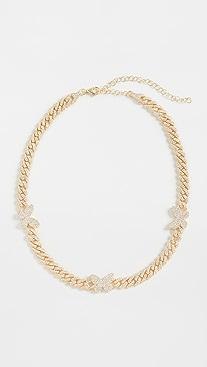 Adina's Jewels Pav Butterfly Chain Link Choker