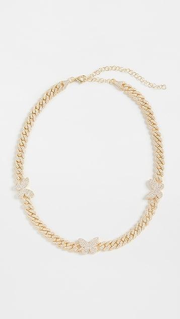 Adina's Jewels 密镶蝴蝶链条短项链