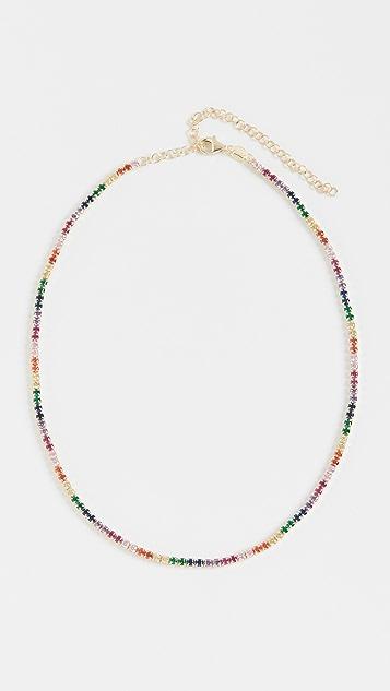 Adina's Jewels 彩虹网球短项链