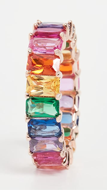 Adina's Jewels Rainbow Baguette Ring