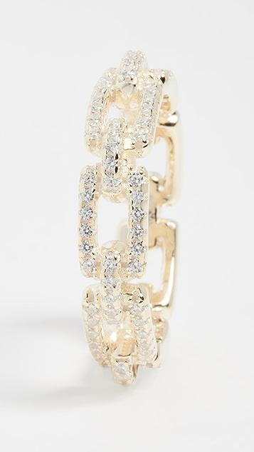 Adina's Jewels Pave Box Link Ring