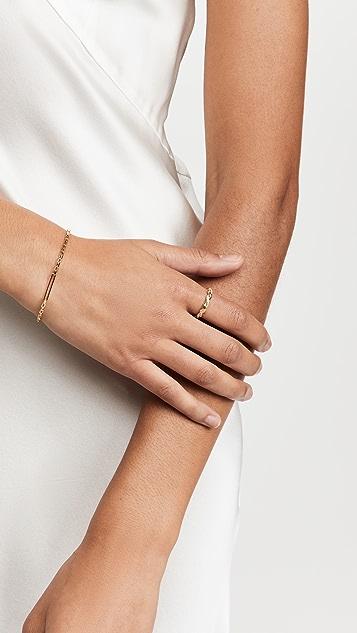 Adina's Jewels Pav X 纯色扭纹戒指
