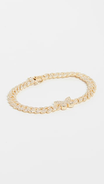 Adina's Jewels Pave Butterfly Chain Link Bracelet