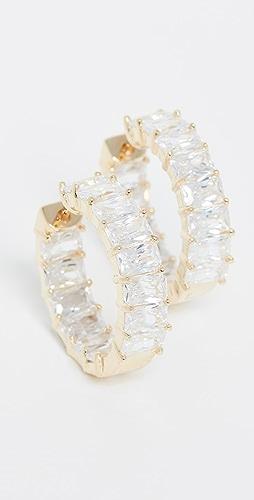 Adina's Jewels - Baguette Hoop Earrings