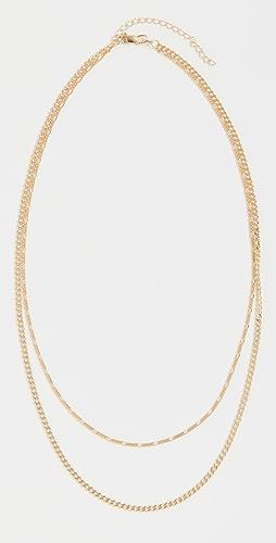 Adina's Jewels - 双链 Figaro X Cuban 项链