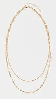 Adina's Jewels Double Chain Figaro X Cuban Necklace