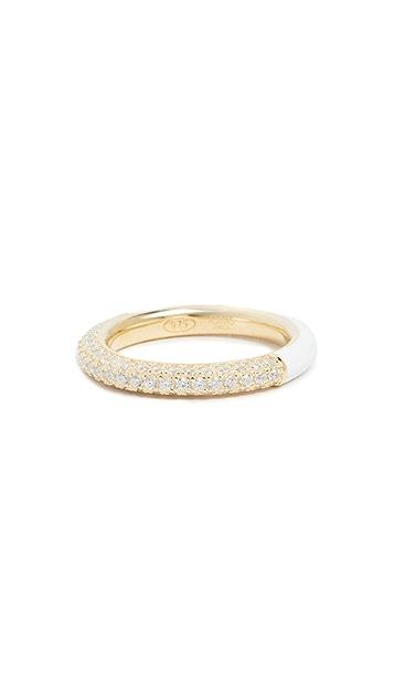 Adina's Jewels 密镶珐琅戒指