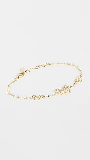 Adina's Jewels 密镶三重蝴蝶手链