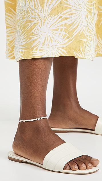 Adina's Jewels 蝴蝶珍珠踝链