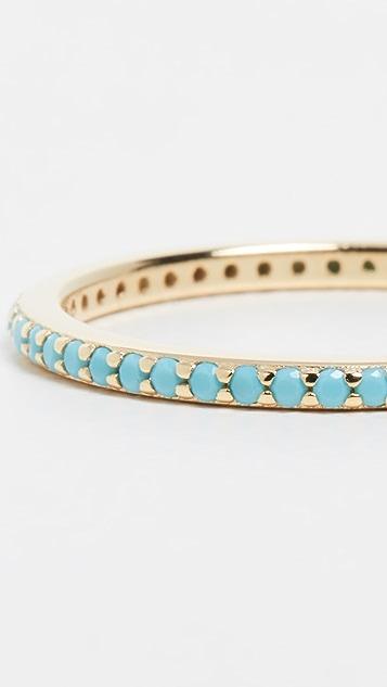 Adina's Jewels Thin Turquoise Cubic Zirconia Ring