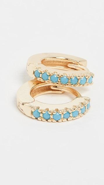 Adina's Jewels Turquoise Huggie Earrings