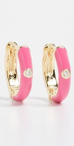 Adina's Jewels - Enamel Colored Huggie Earrings