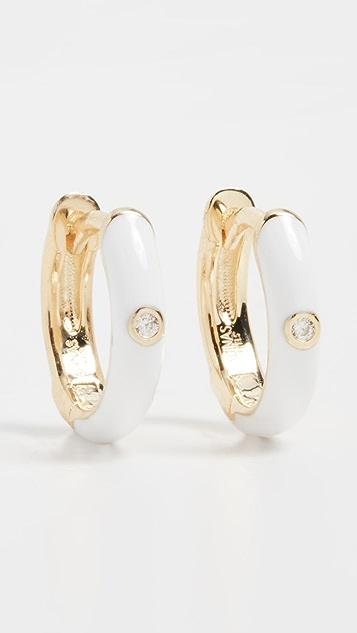 Adina's Jewels Enamel Colored Huggie Earrings