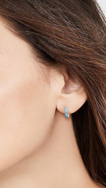 Adina's Jewels 珐琅彩色贴耳耳环